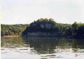 Starved Rock itself, from a distance